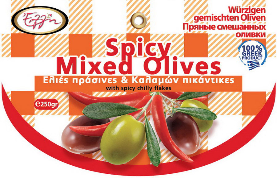 Spicy mixed olives