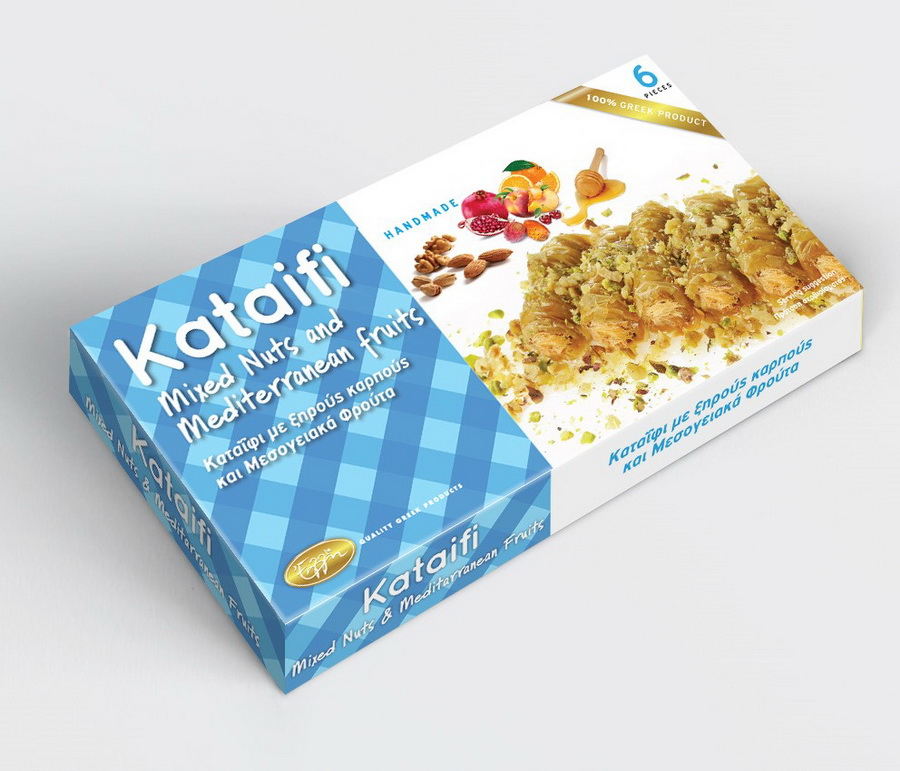 Kataifi mixed nuts and mediterranean fruits