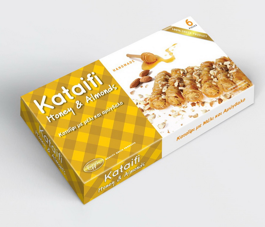 Kataifi honey & almonds